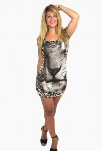 Vestido Hostes mini Leop